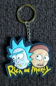 Rick and Morty Double Sided PVC Rubber R & M COMIC BOOK COLLECTORS Key chain