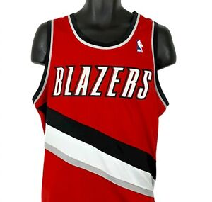Portland Trail Blazers No Name Number Jersey Cut Hem Shirt Red L XL NBA Adidas