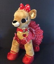Vintage Retired Rare Build A Bear Clarice Reindeer with Complete Outfit Light Up