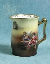 Stunning ANTIQUE Royal Bayreuth Scenic Musketeers Creamer Milk Jug Jar Signed