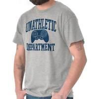 Unathletic Department Funny Gamer Video Game Nerd Geek Gaming T Shirt Tee