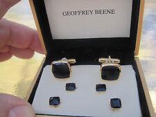 Geoffrey Beene Cufflinks and Studs, Gold-Tone w/ Onyx Stones, $55 Retail