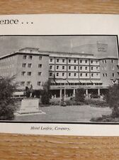 Ephemera 1960 Advert Hotel Leofric Coventry M479