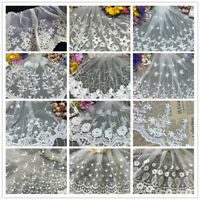 1Yard Lace Edge Trim Vintage Embroidered Wedding Dress Applique DIY Sewing Craft