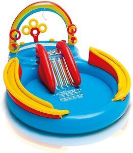 Piscina gonfiabile arcobaleno Intex 57453 playground spruzzi gioco bambino Rotex