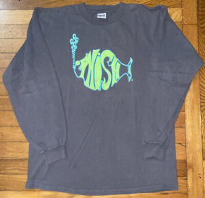 Vintage 1997 Phish Tour Long Sleeve Shirt Large Amazing Shape