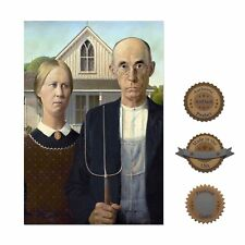 "13""×19"" Historic Decorative Art Poster: American Gothic Famous Painting Artwork"