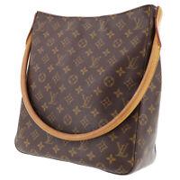 LOUIS VUITTON Looping GM Shoulder Bag Monogram Canvas M51145 Authentic #TT334 Y
