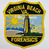 Forensics Crime Scene Virginia Beach Police Virginia Patch (A4-D)