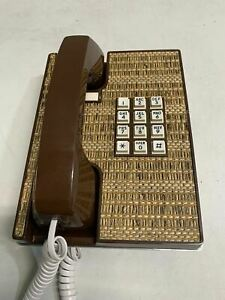 RETRO 70s Corded Wall Phone Western Electric Fabric Top DECOR COLLECTIBLE