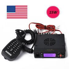 136-174/400-490MHz Dual Band VHF/UHF Mobile Radio 15W Mini MobileTransceiver