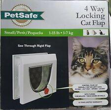 """Petsafe 4 Way Locking Cat Flap Size Small 1-15Lb Overall Size 8-7/8"""" x 8-78"""" Nib"""