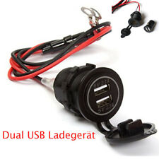 2 Ports USB Chargeur Adaptateur Prise Allume Cigare 12V Pr Moto Voiture Etanche