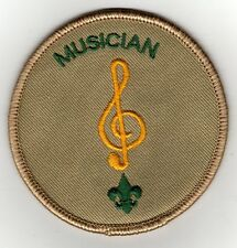 "Musician Position Patch (2002-2009), Tan Brd, ""Scout Stuff"" Backing, Mint!"