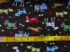 Dog Breeds Brown Cotton Fabric Material Craft Quilt FQ Metre Cute Puppy