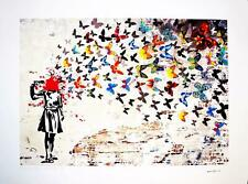 BANKSY - LIMITED EDITION #18 OF 30 * HEADSHOT BUTTERFLY *