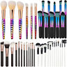 Multi Make up Brush Cream Foundation Powder Contour Cosmetic Kabuki Tool Set UK