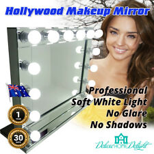 NEW Hollywood Makeup Mirror Dimmable 14 Soft LED Lights, All Mirror Finish LARGE
