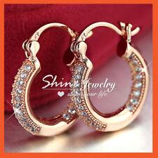 Crystal Hoop Clip - On Fashion Earrings