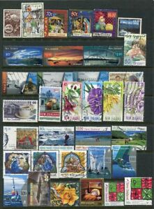 NEW ZEALAND....   Collection of 35 diff used stamps mostly face 70c to 1.20