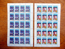 NEVIS Wholesale 1986 World Cup Football 30c & 60c in Sheets of 20 SALE PRIFP2457