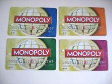 4 CARTES DE PAIEMENT de remplacement pour MONOPOLY MONDE / SPARE PARTS F40