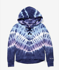 NWT JUSTICE GIRLS 12 TIE DYE LACE UP HOODIE❤️❤️❤️❤️