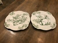 """Set of 2 - Bunny Toile J Willfred Luncheon / Salad Plates 10"""" 5933928"""