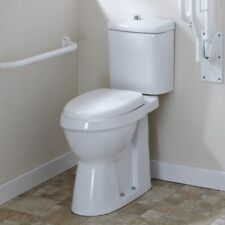 Doc M Raised Height Comfort Toilet Elderly Disabled Soft Close, Close Coupled