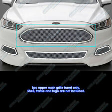 Fits 2013-2016 Ford Fusion Stainless Steel Mesh Grille Inserts