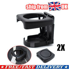 2X Car Drink Cup Bottle Holder Stand Mount Auto Folding Beverage Universal Black