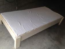 hüsler komplett-bett - futon federelement , latexmatratze massivholz bettrahmen