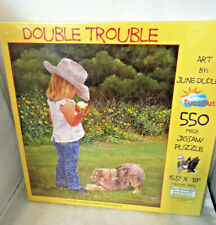 NIB New Sealed Double Trouble By June Dudley Jigsaw Puzzle 550 piece