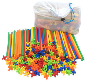 400 Piece Straws and Connectors Building Set Construction Toys