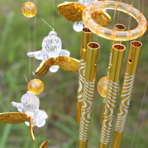 AU_ FP- Love Angel Cupid Wind Chime Tube Hanging Ornament House Home Decor Welco