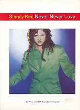 Never Never Love - Simply Red - 1995 Sheet Music