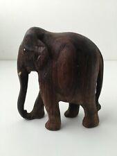 Statuette Éléphant d'Indonésie en Bois  massif sculpté - 11 cm