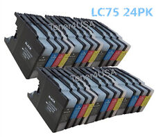 24P NEW Ink Cartridges LC71 LC75 Compatible for Brother MFC-J435W Printer BK CMY