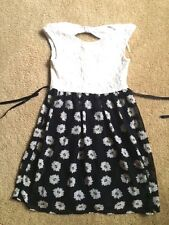Speechless Girls White Lace Black Daisy Floral Dress from Macy's size 12 Party