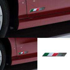 100mmx15mm Italy Italian Flag Emblem Metal Badge Car Motorcycles Decor Sticker