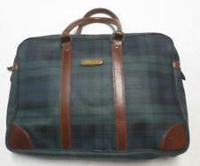 Vtg Ralph Lauren Polo Blackwatch Plaid Weekender Duffle Briefcase Computer Bag