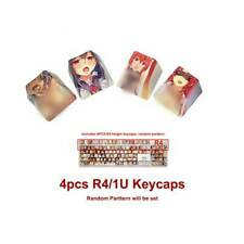 Ahegao PBT Dye Sublimation Keycaps OEM Anime Waifu Fit MX Keyboards 4pcs R4/1U