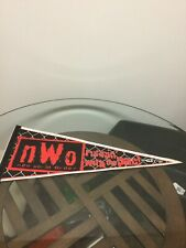 Vintage WCW NWO New World Order Runnin With The Pack Wrestling Pennant Flag