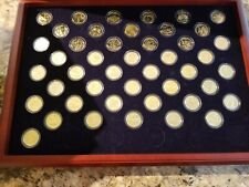 MORGAN MINT PRESIDENTIAL 24 KARAT GOLD DOLLAR PROOF COLLECTION W/ COA WOOD CASE