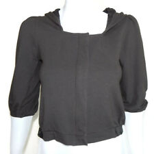 SATURDAY SUNDAY Anthropologie Brown-Gray Hooded Crop Sweater - XS