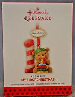 "Hallmark - My First Christmas - Choose Year - Teddy Bear ""1"" - Ornament"