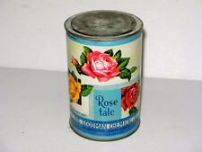 UNUSED FULL CAN ANTIQUE ROSE TALC - GOODMAN CHEMICAL CO. BROOKLYN NY
