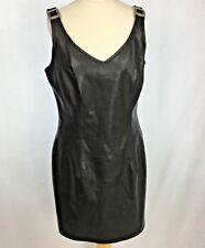 Womens PVC Dress Black Size 10 UK