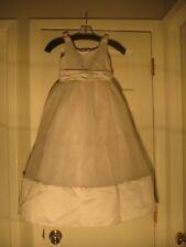 Ladybug Fashion Flowergirl Communion Dress-style 1015-size 6 white (A28-4)