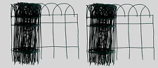 2 Panacea Green GARDEN FENCE EDGING Wire Scroll Arch Bed Walkway Border 20' x14""